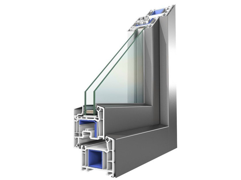 Aluminium and PVC double glazed window KONCEPT ALU - OKNOPLAST GROUP