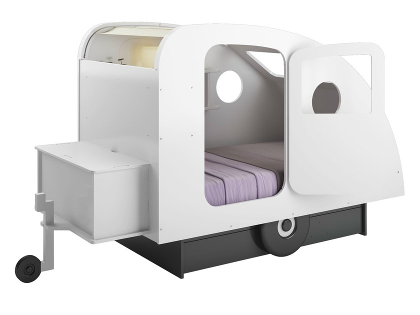 Lacquered MDF bed CARAVANE by Mathy by Bols
