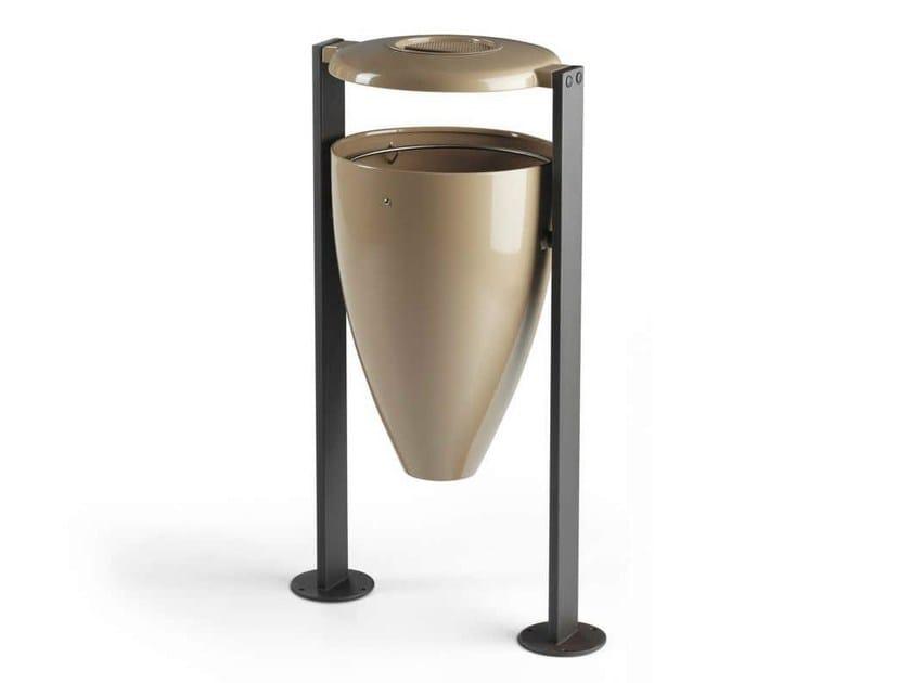 Steel waste bin FLUTE - Metalco
