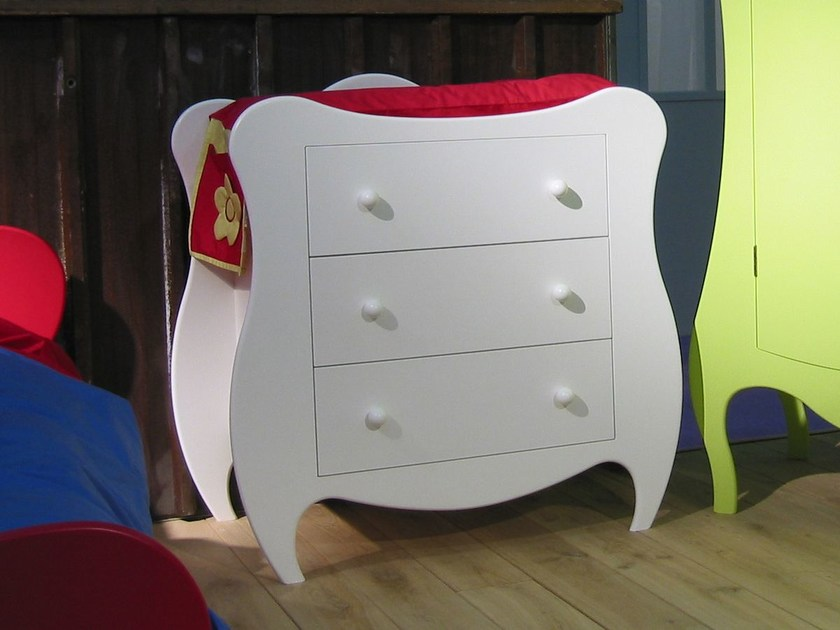 Changing table with drawers VOLUTE | Changing table - Mathy by Bols