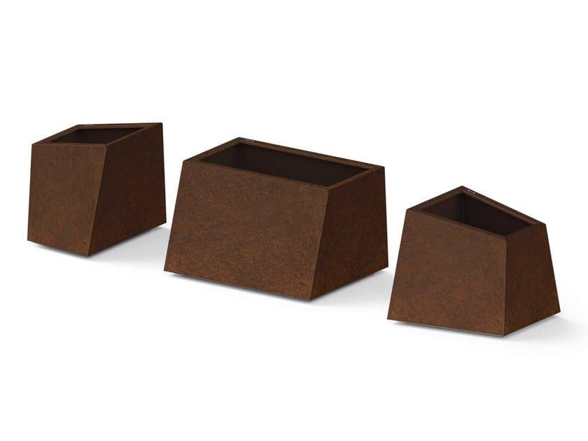 Corten™ Flower pot ALFA BETA GAMMA - Metalco