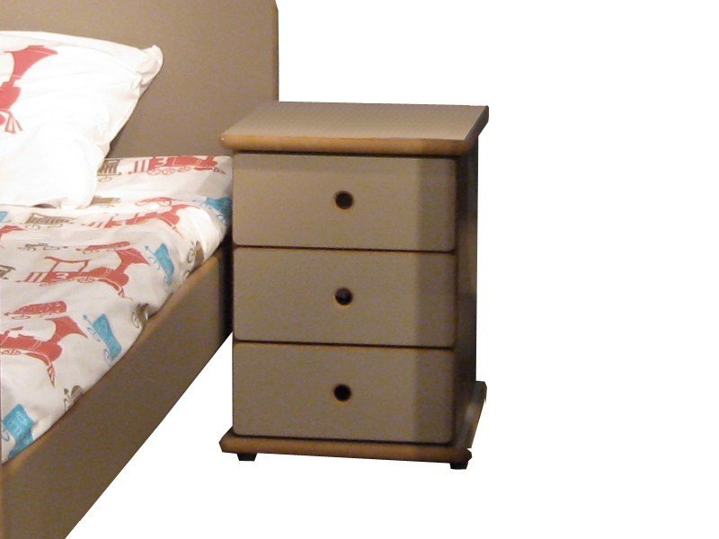 Bedside table with drawers for kids' bedroom DAVID | Bedside table - Mathy by Bols