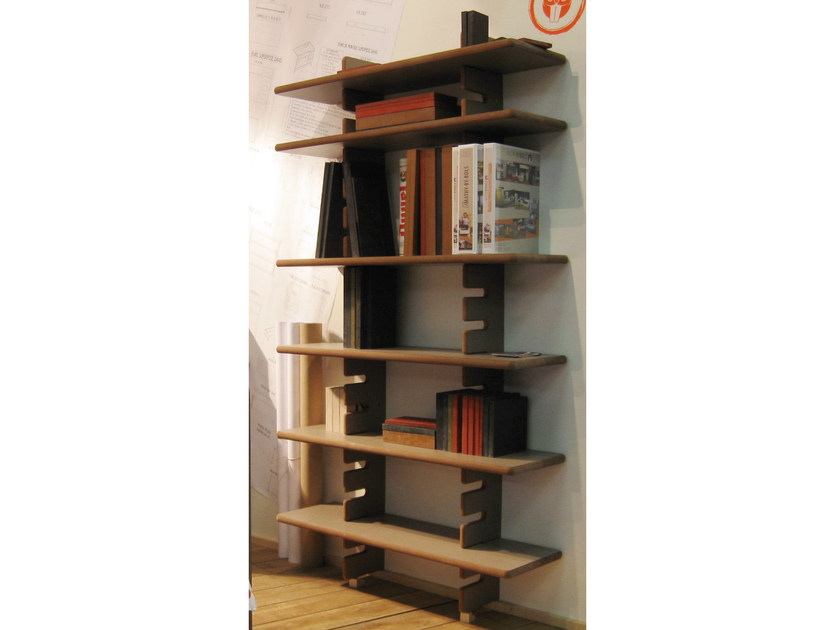 Open wall-mounted sectional MDF bookcase DAVID | Wall-mounted bookcase - Mathy by Bols