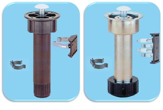 ABS Furniture foot Piedino per mobili in abs e in acciaio - Unifix SWG