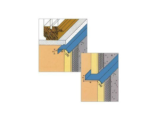 Seal and joint for insulation product Covering profiles with drip catcher - EDILFERRO TRAVEST