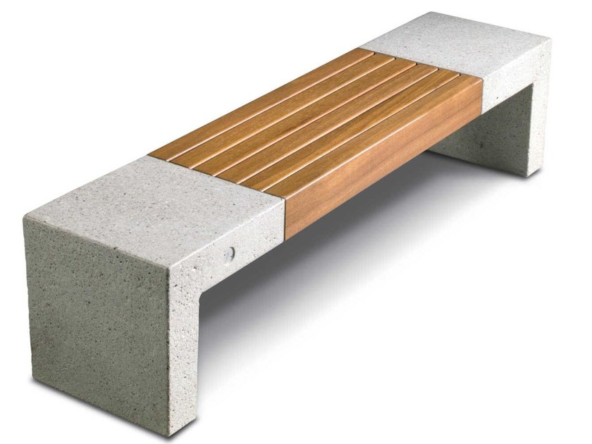 Reconstructed stone Bench GIADA by Metalco