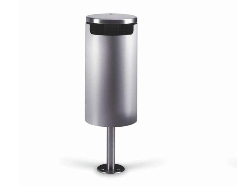 Steel waste bin with lid ERMES - Metalco