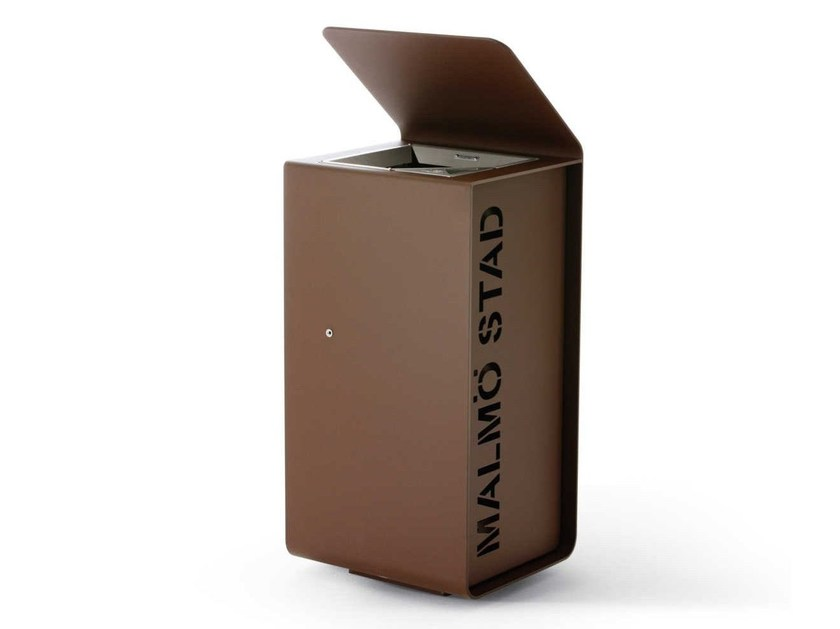 Steel waste bin YES - Metalco