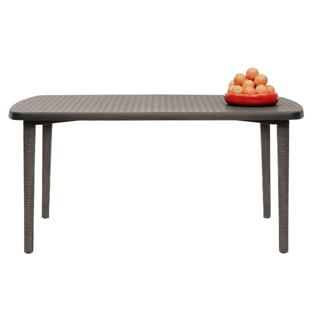 Rectangular polypropylene garden table ORAZIO | Rectangular table - SCAB DESIGN