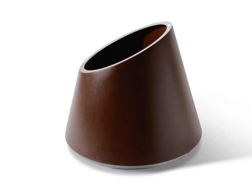 Corten™ Flower pot ECCENTRICA | Flower pot by Metalco