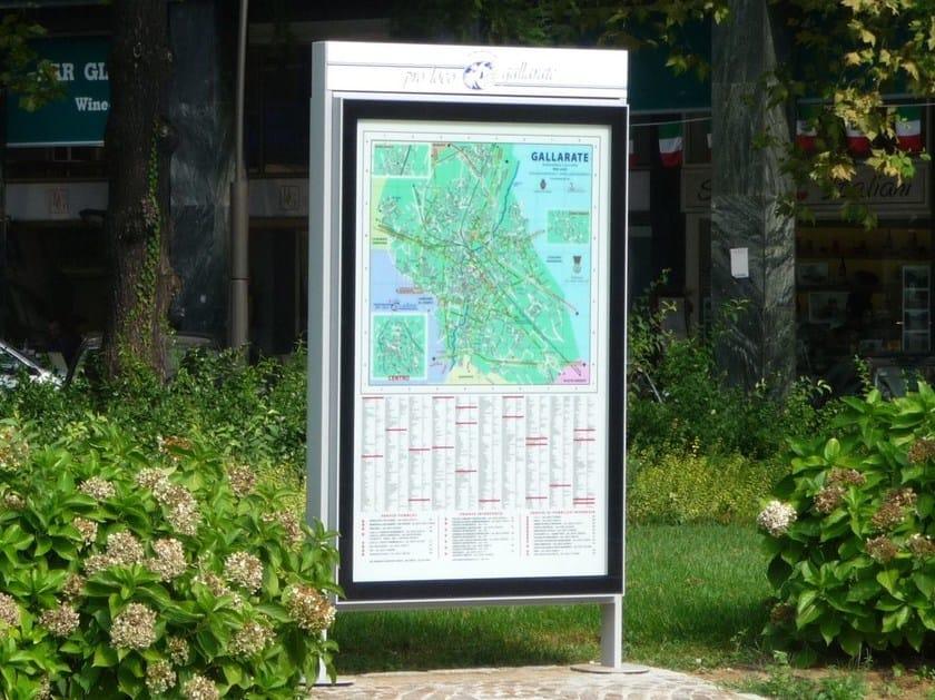 Double-sided steel notice board VISO - Metalco