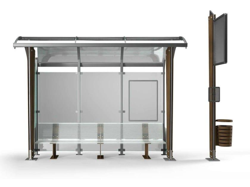 Corten™ porch for bus stop OMNIBUS - Metalco