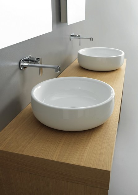 Bonola 46 lavabo da appoggio by ceramica flaminia design jasper morrison - Flaminia sanitari bagno ...