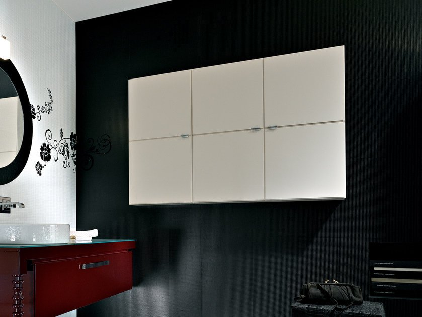 Modular wall cabinet with doors DEKÒ | Suspended bathroom cabinet - IdeaGroup