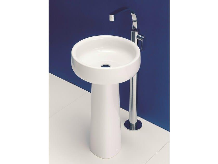 Round pedestal ceramic washbasin BONOLA 50 | Pedestal washbasin - CERAMICA FLAMINIA