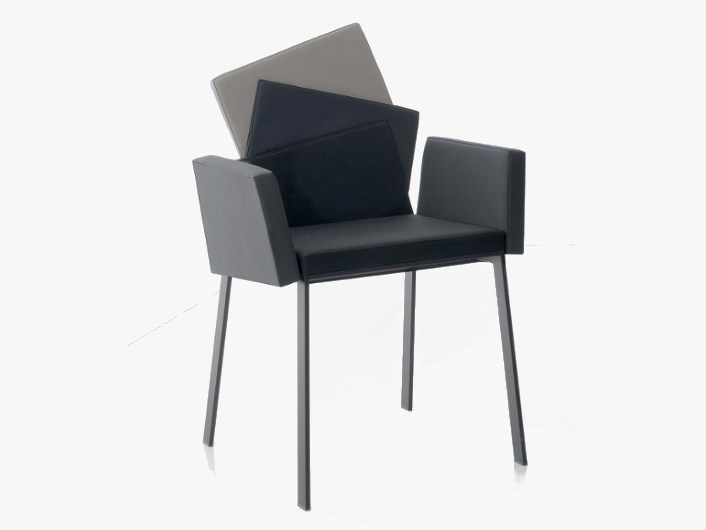 Chair with armrests KARMA by Italy Dream Design