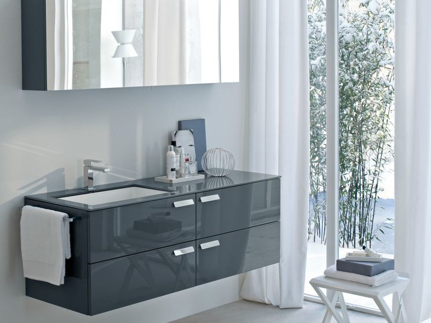 meuble sous vasque simple en cristal comp mfe02 collection my fly evo by ideagroup. Black Bedroom Furniture Sets. Home Design Ideas