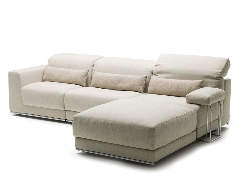 Recliner sofa bed with chaise longue JOE | Sofa with chaise longue - Milano Bedding
