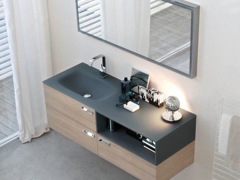 Crystal vanity unit COMP MFE12 | Wall-mounted vanity unit - IdeaGroup