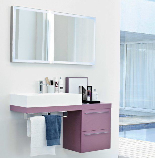 Lacquered vanity unit COMP MFE14 - IdeaGroup