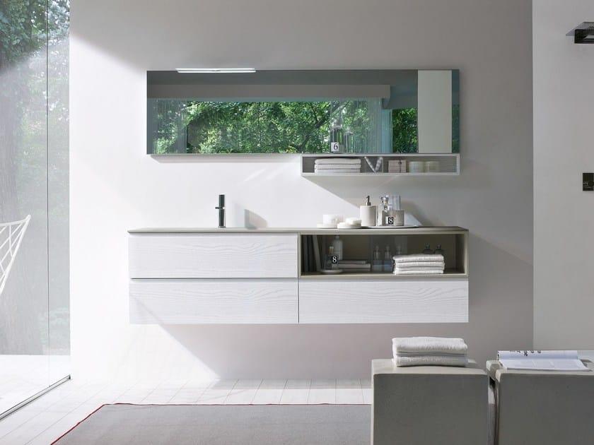 Lacquered ash vanity unit COMP MSP07 | Vanity unit - IdeaGroup