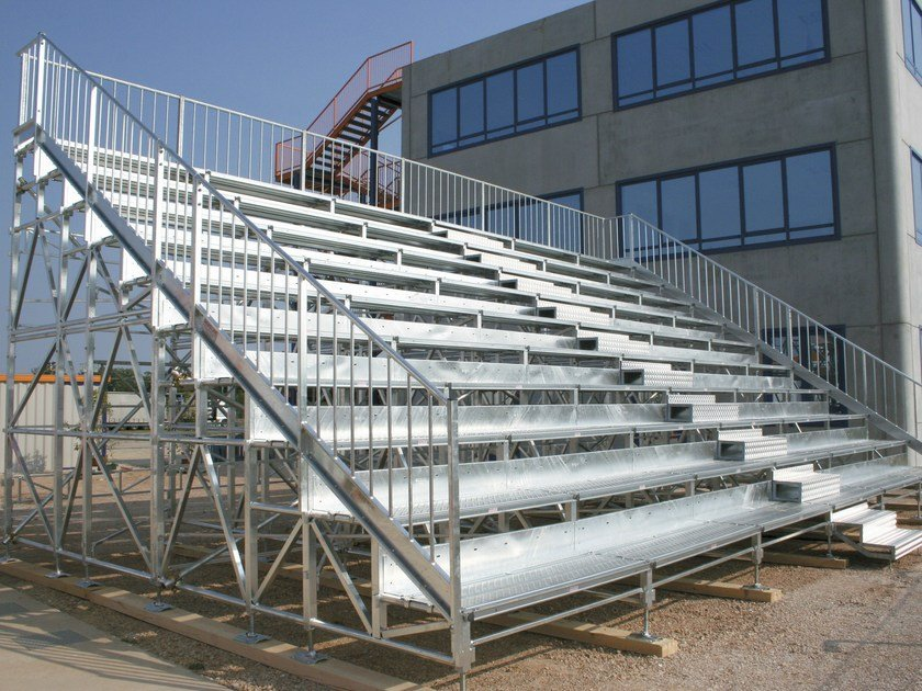 Modular system for steel platform and stand 10 ROW COMPATTA TRIBUNE - SELVOLINA