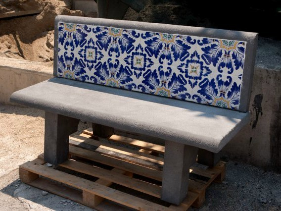 Reinforced concrete Bench with back Bench - F.lli Maresca