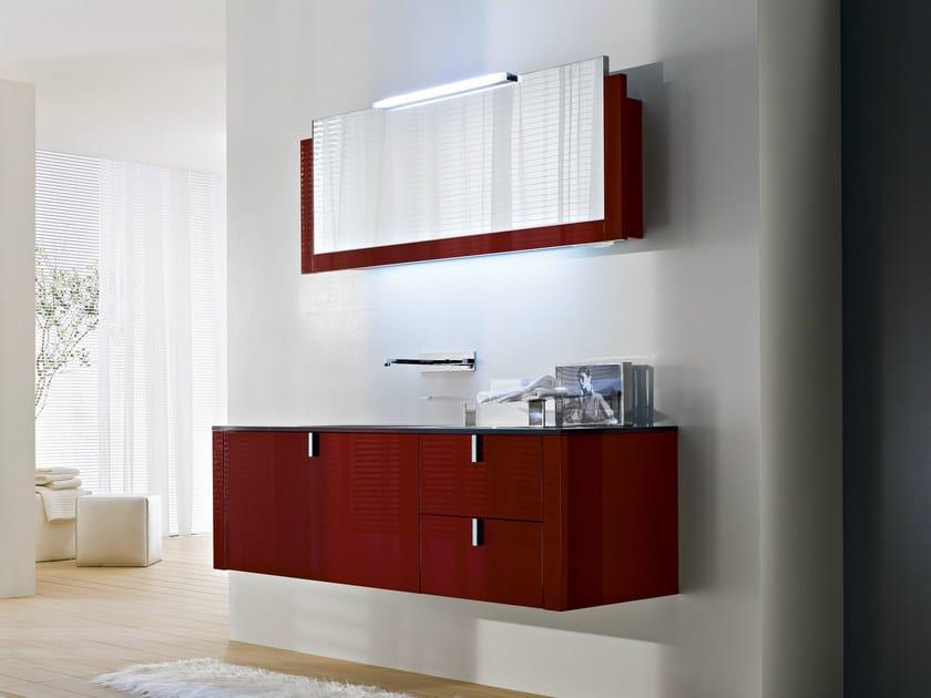 Vanity unit with mirror COMP C05 | Vanity unit - IdeaGroup