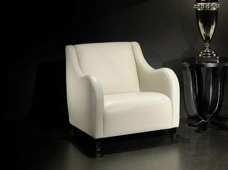 Upholstered armchair with armrests AMBIANCE 143 | Armchair by Transition by Casali