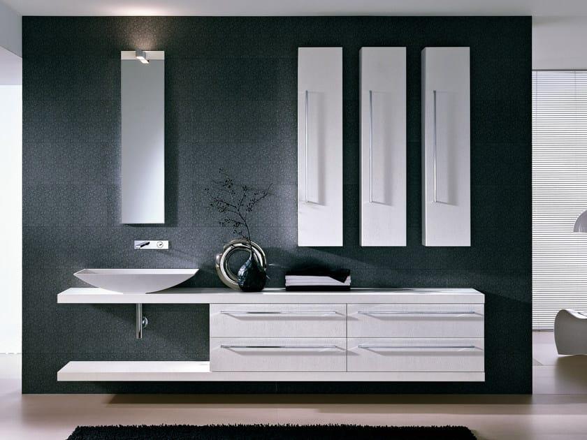 Vanity unit with mirror COMP TE3 - IdeaGroup