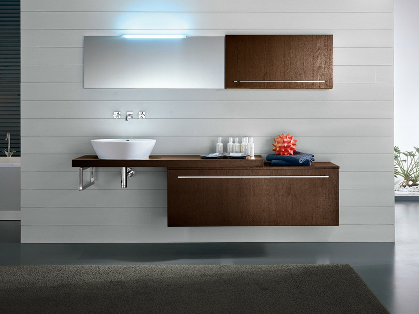 Wall-mounted vanity unit with drawers COMP TE9 - IdeaGroup