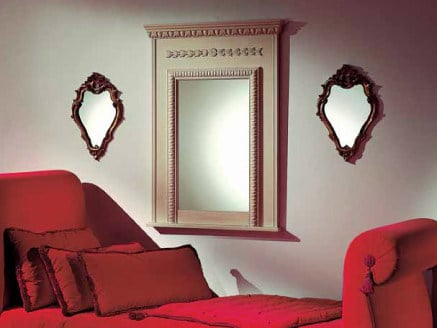 Wall-mounted framed rectangular mirror AMBIANCE 105 | Mirror - Transition by Casali
