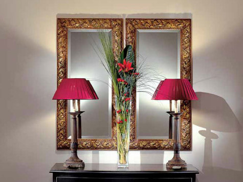 Wall-mounted framed rectangular mirror AMBIANCE 108 | Mirror - Transition by Casali