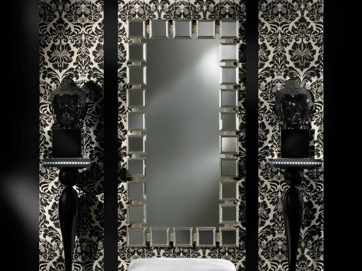 Wall-mounted rectangular mirror AMBIANCE 147 | Mirror - Transition by Casali