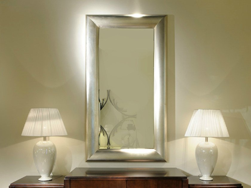 Wall-mounted framed rectangular mirror ART DECO MILANO | Rectangular mirror - Transition by Casali
