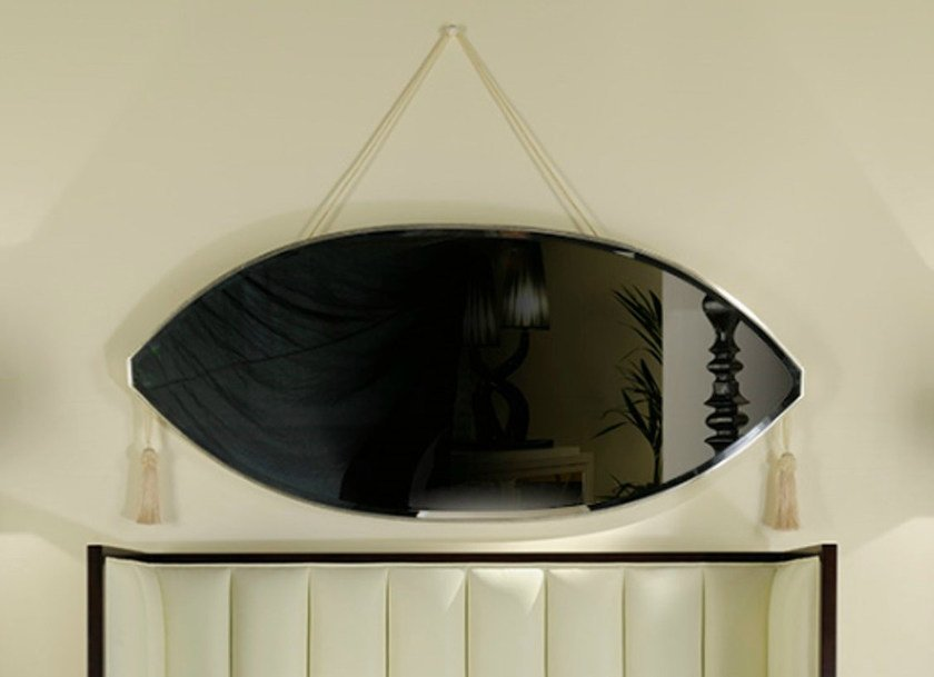 Wall-mounted oval mirror ART DECO MILANO | Oval mirror - Transition by Casali