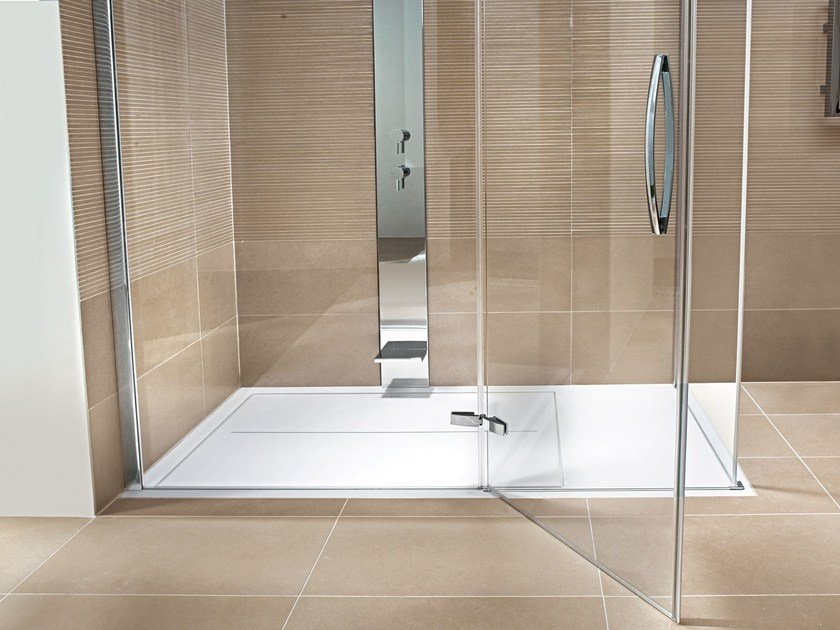 Piatto doccia filo pavimento in aquatek clip piatto - Box doccia a filo pavimento ...