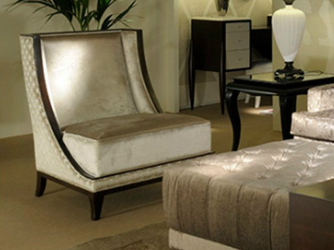 Upholstered armchair ART DECO MILANO | Armchair - Transition by Casali