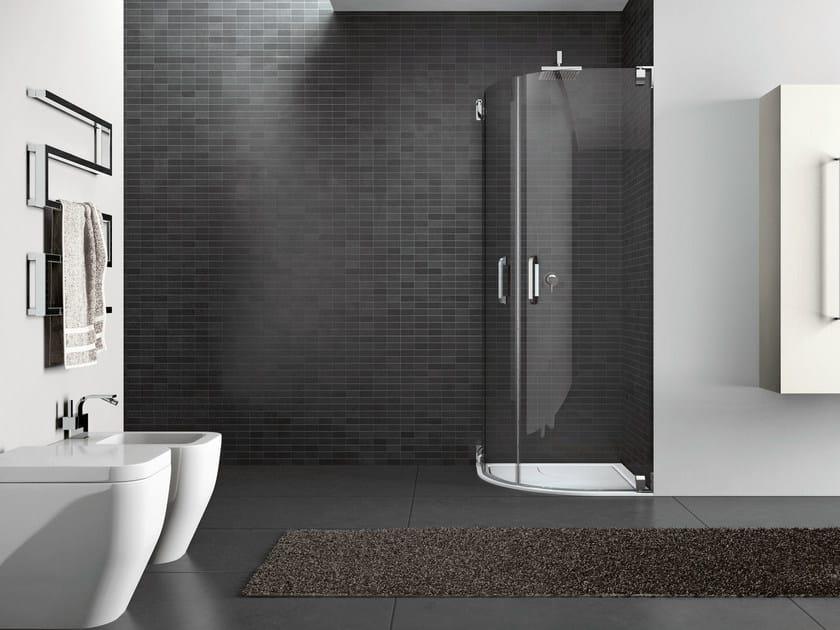 Corner steel shower cabin HAND10 - IdeaGroup