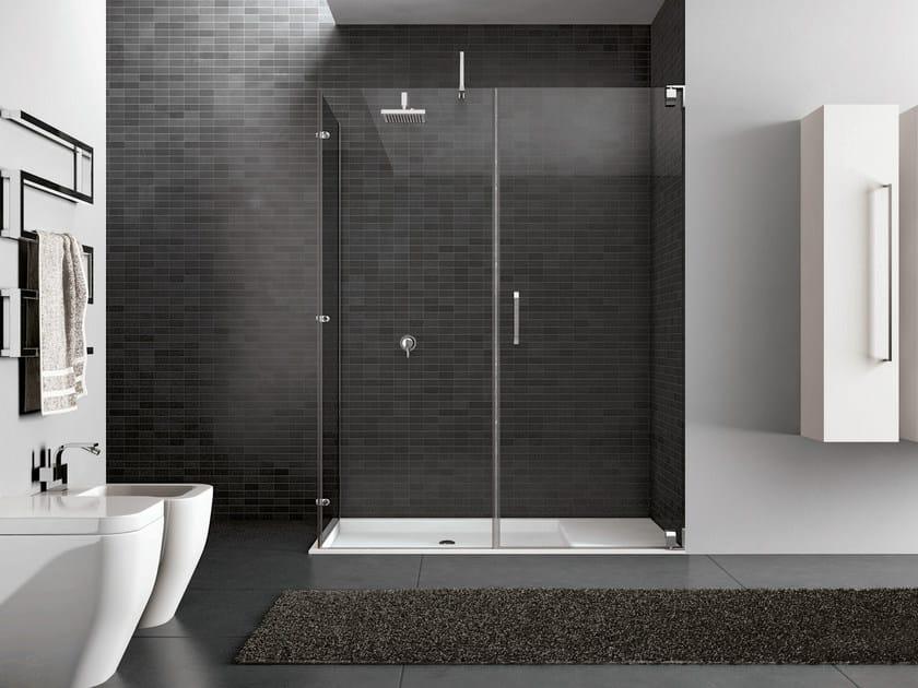 Rectangular steel shower cabin HAND05 - IdeaGroup