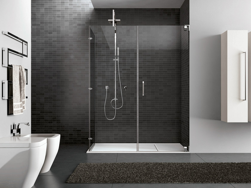 Rectangular steel shower cabin HAND06 - IdeaGroup