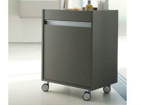 Storage bathroom cabinet with casters KETHO | Bathroom cabinet with casters - DURAVIT