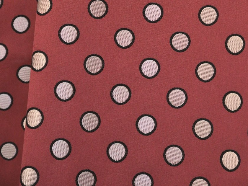 Dotted jacquard cotton fabric COQUIN - LELIEVRE
