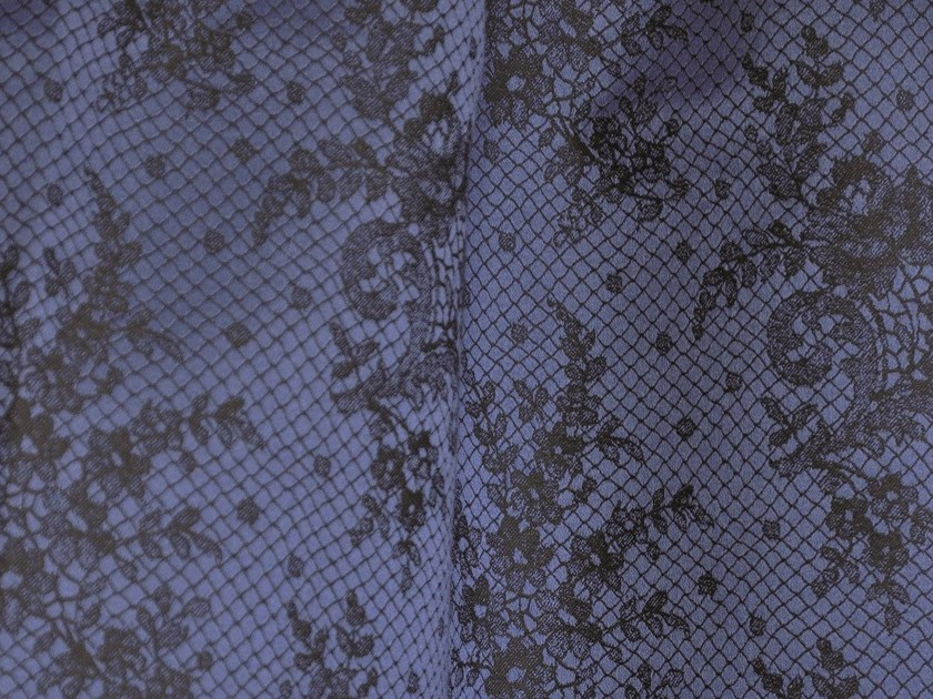 Damask cotton fabric with floral pattern CASINO by LELIEVRE