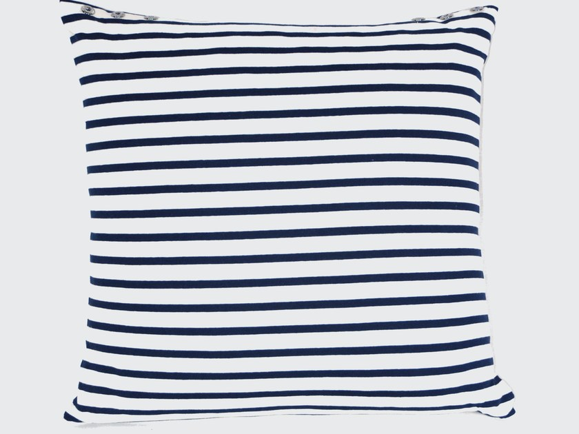 Square cotton cushion MARINIERE by LELIEVRE