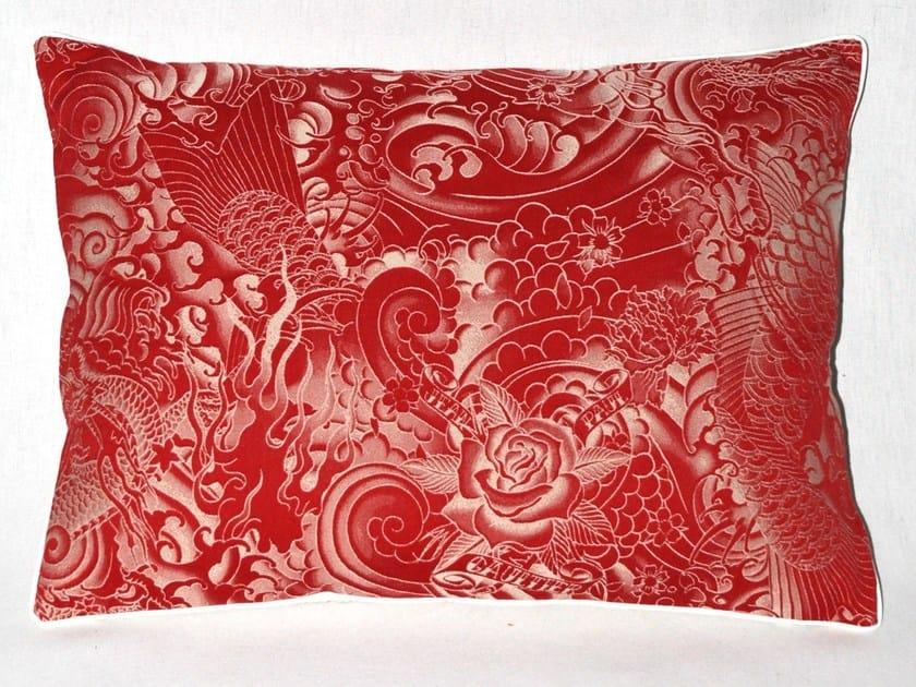 Rectangular cotton cushion SAGESSE by LELIEVRE