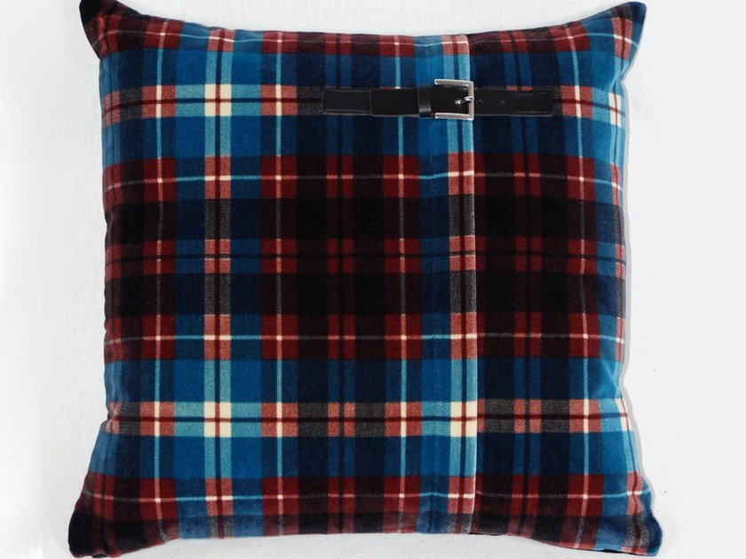 Square cotton cushion TWIGGY by LELIEVRE