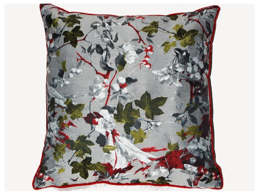 Square viscose cushion TAPISSERIE by LELIEVRE