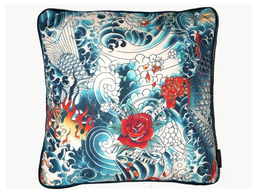Square cotton cushion TENDER - LELIEVRE