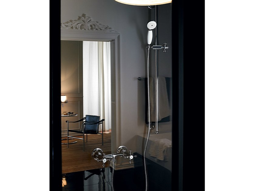 Wall-mounted shower panel with hand shower AGORÀ | Shower panel - ZUCCHETTI